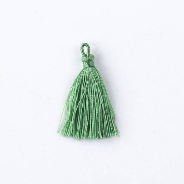 "Ivy Green 1.5"" Nylon Tassels - 2 per bag"