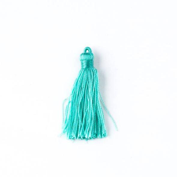 """Mint Green 1.5"""" Nylon Tassels - 2 per bag"""