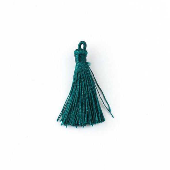 "Peacock Green 1.5"" Nylon Tassels - 2 per bag"
