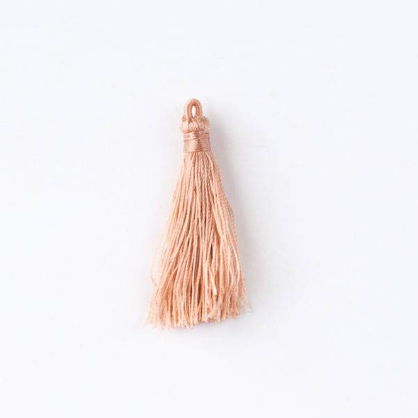 "Peach 1.5"" Nylon Tassels - 2 per bag"
