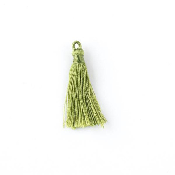 "Peridot Green 1.5"" Nylon Tassels - 2 per bag"