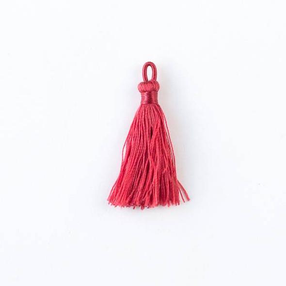 "Scarlet Red 1.5"" Nylon Tassels - 2 per bag"
