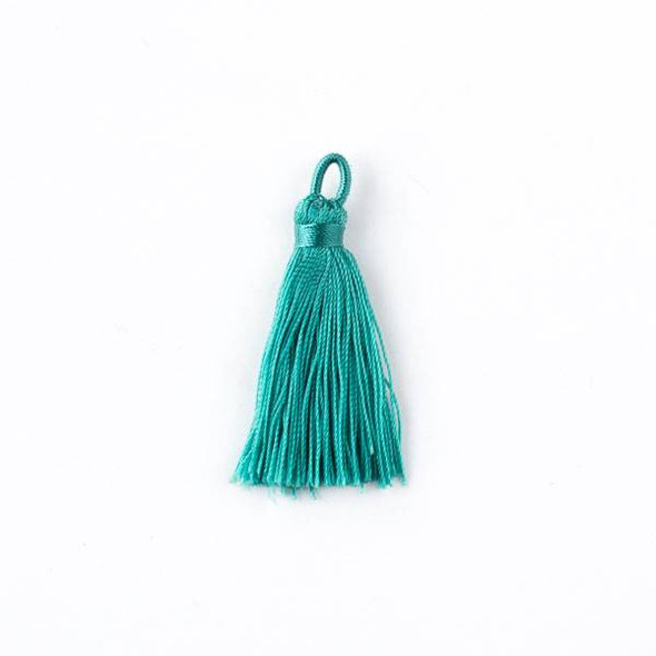 "Spearmint Green 1.5"" Nylon Tassels - 2 per bag"