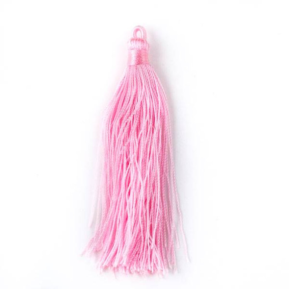 "Cotton Candy Pink 3"" Nylon Tassels - 2 per bag"