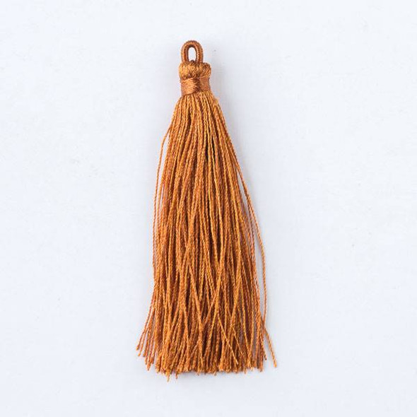 "Harvest Orange 3"" Nylon Tassels - 2 per bag"