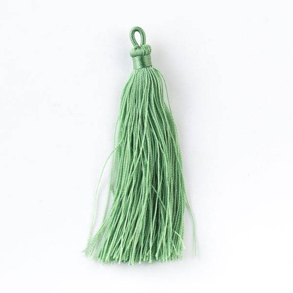 "Ivy Green 3"" Nylon Tassels - 2 per bag"