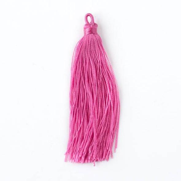 "Jazzberry Jam Pink 3"" Nylon Tassels - 2 per bag"