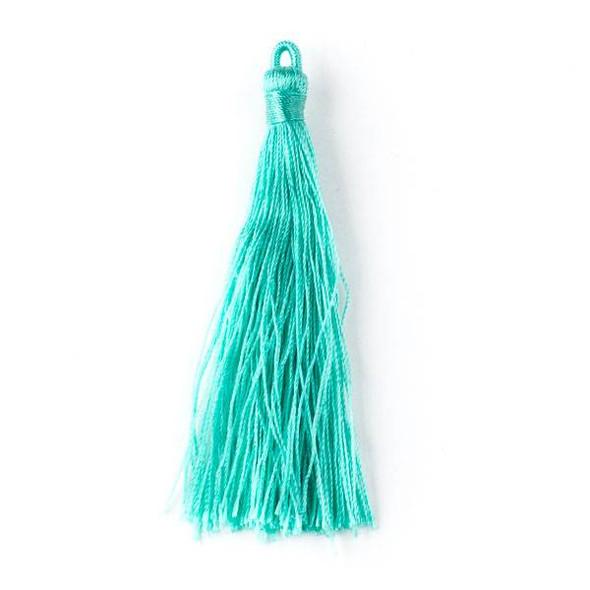 """Mint Green 3"""" Nylon Tassels - 2 per bag"""