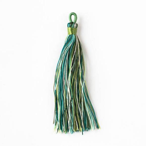 "Multicolor Rainforest Canopy 3"" Nylon Tassels - 2 per bag"