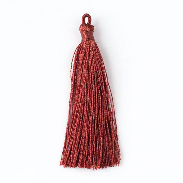 "Redwood Mahogany 3"" Nylon Tassels - 2 per bag"
