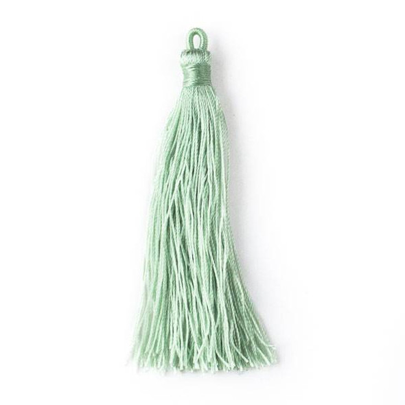 "Sage Green 3"" Nylon Tassels - 2 per bag"