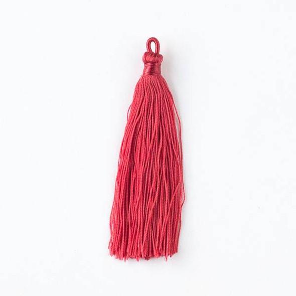 "Scarlet Red 3"" Nylon Tassels - 2 per bag"