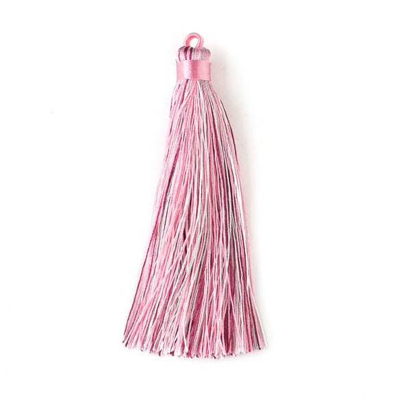 "Multicolor Rose Quartz 4"" Nylon Tassels - 2 per bag"