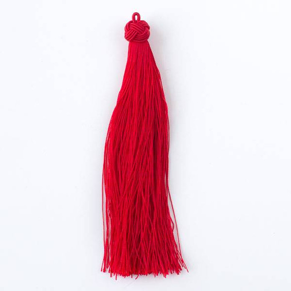 "Chinese Red 5"" Nylon Tassels - 2 per bag"