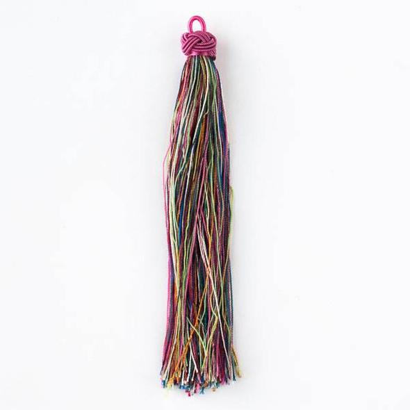 "Multicolor Classic Rainbow 5"" Nylon Tassels - 2 per bag"