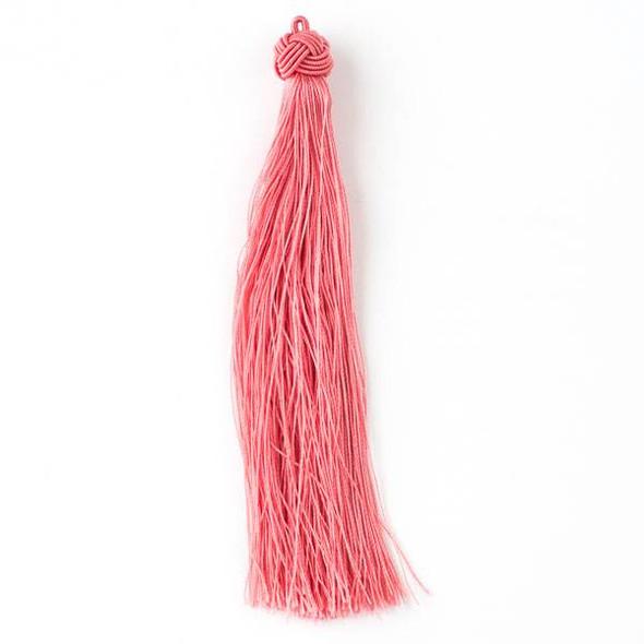 "Coral Pink 5"" Nylon Tassels - 2 per bag"