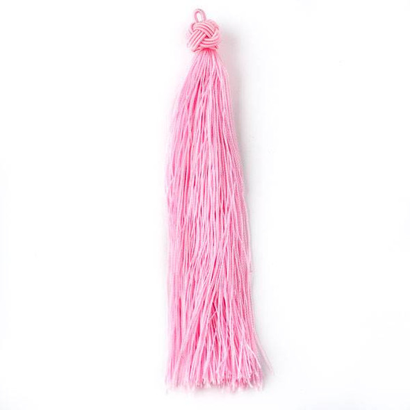 "Cotton Candy Pink 5"" Nylon Tassels - 2 per bag"