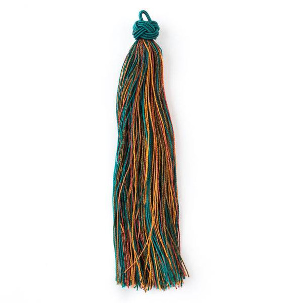 "Multicolor Enchanted Forest 5"" Nylon Tassels - 2 per bag"