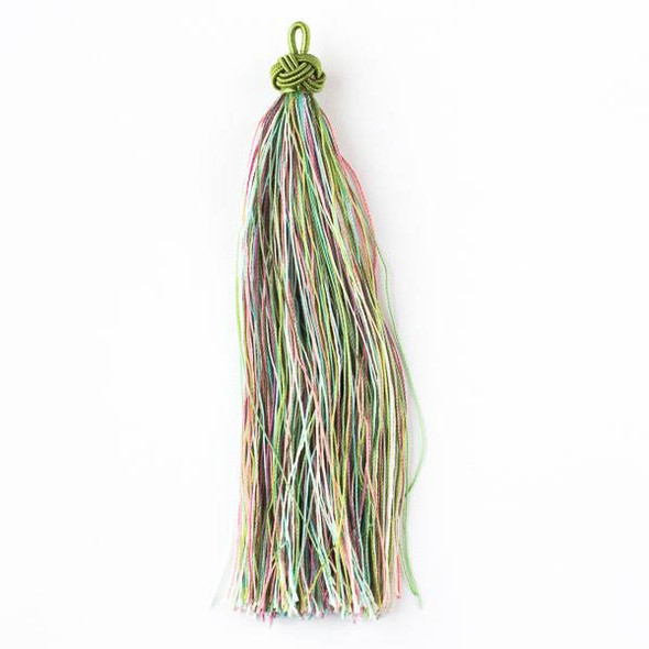 "Multicolor Fairy Garden 5"" Nylon Tassels - 2 per bag"