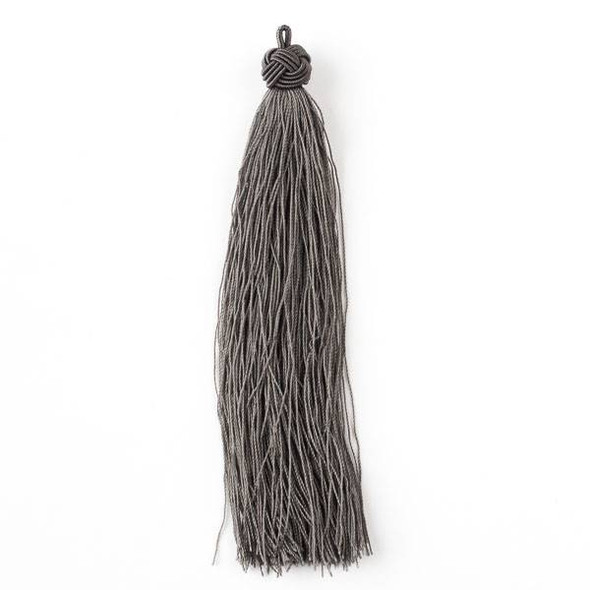 "Grey 5"" Nylon Tassels - 2 per bag"