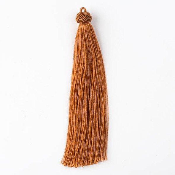 "Harvest Orange 5"" Nylon Tassels - 2 per bag"