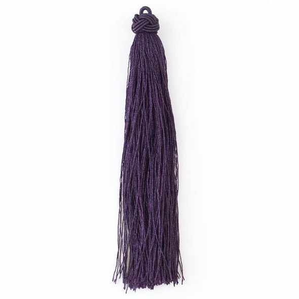 "Dark Plum Purple 5"" Nylon Tassels - 2 per bag"