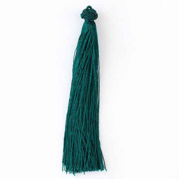 "Peacock Green 5"" Nylon Tassels - 2 per bag"