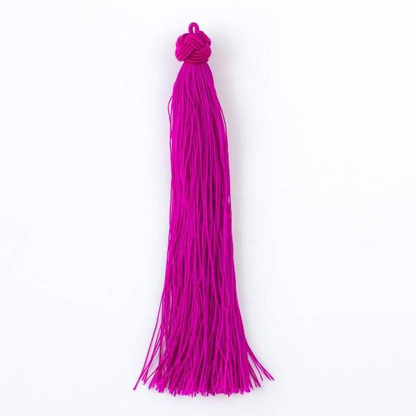 "Magenta Pink 5"" Nylon Tassels - 2 per bag"