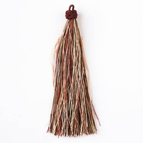 "Multicolor Moroccan Tapestry 5"" Nylon Tassels - 2 per bag"