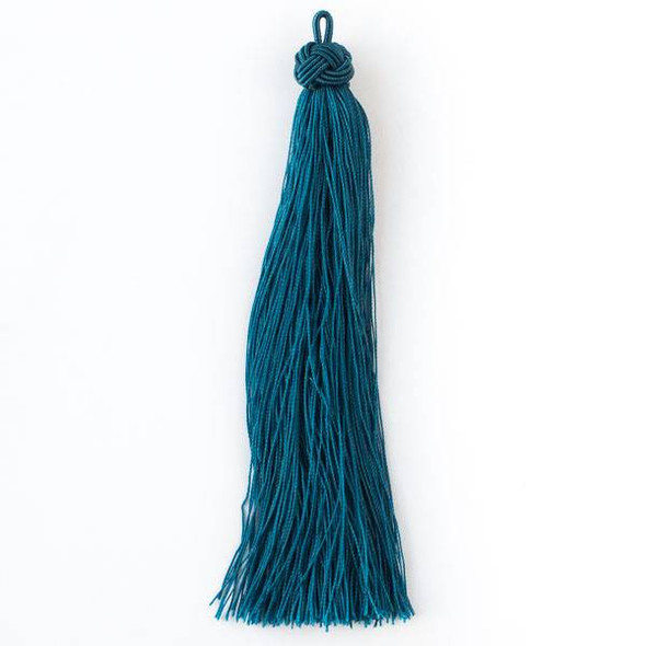 "Peacock Blue 5"" Nylon Tassels - 2 per bag"