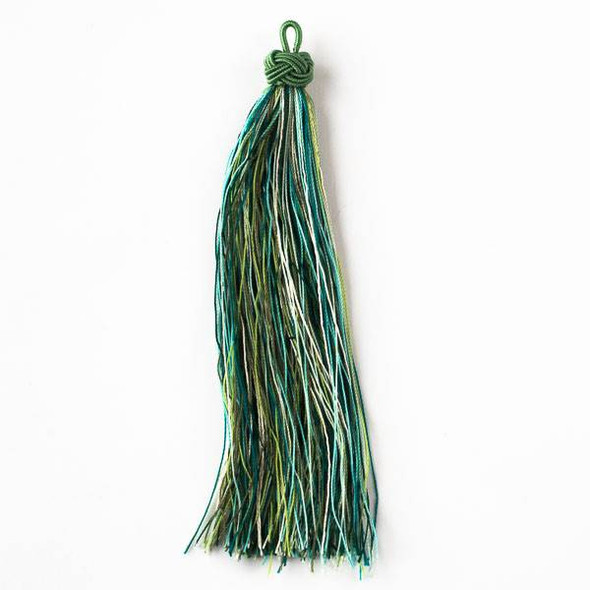 "Multicolor Rainforest Canopy 5"" Nylon Tassels - 2 per bag"