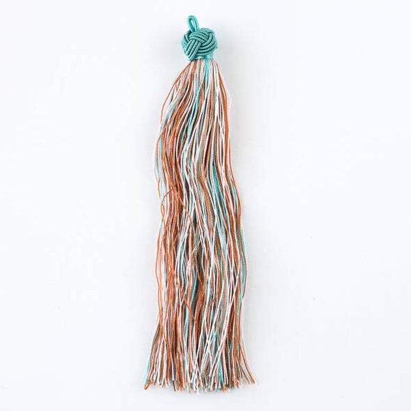 """Multicolor Sand and Sea #2 5"""" Nylon Tassels - 2 per bag"""