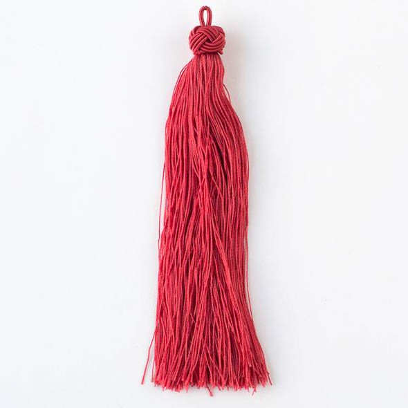 "Scarlet Red 5"" Nylon Tassels - 2 per bag"