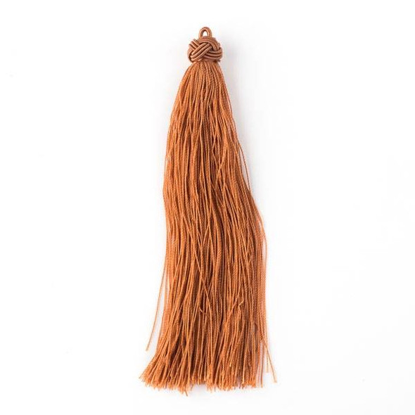"Spiced Nutmeg 5"" Nylon Tassels - 2 per bag"