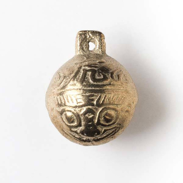Tibetan Brass 32mm Bell - 2 per bag