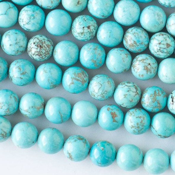 Turquoise Howlite 8mm Round Beads - approx. 8 inch strand, Set A