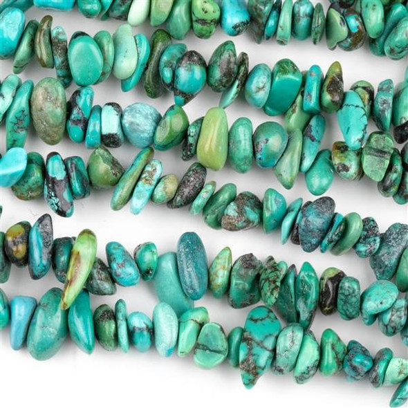 Turquoise 5-8mm Chip Beads - 16 inch strand