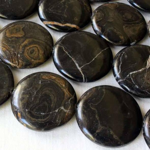 Stromatolite - Turtle Shell Agate 30mm Coin