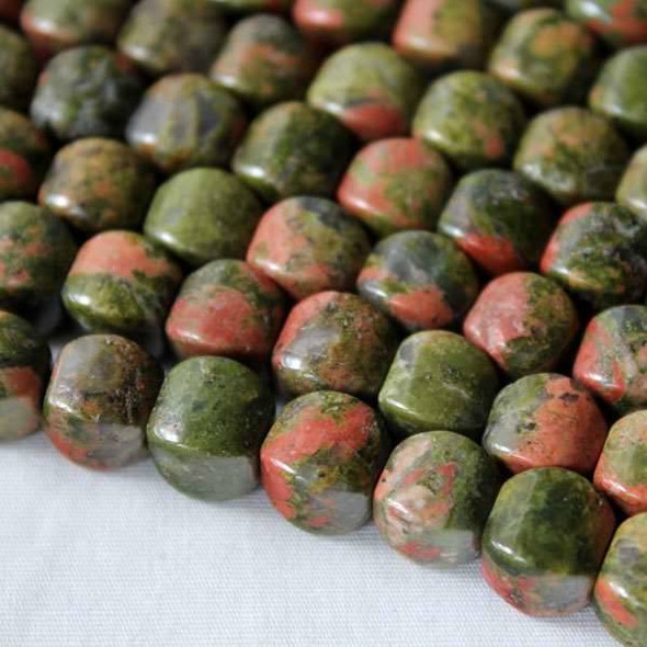 Unakite 8mm Cushion Beads - approx. 8 inch strand, Set A