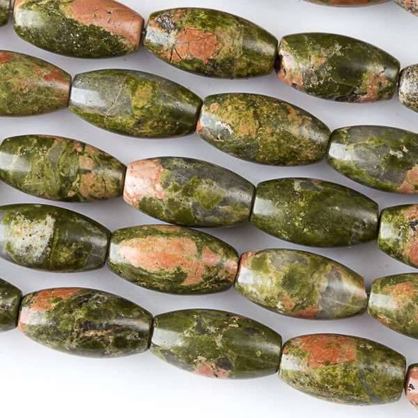 Unakite 7x14mm Rice Beads - approx. 8 inch strand, Set A