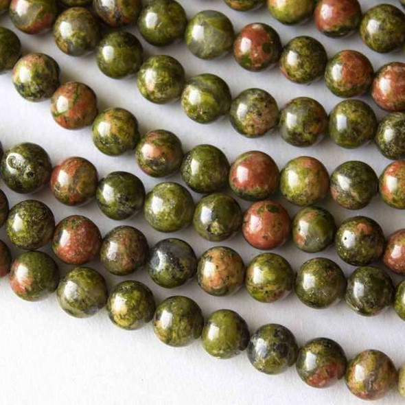 Unakite 6mm Rounds - 16 inch strand