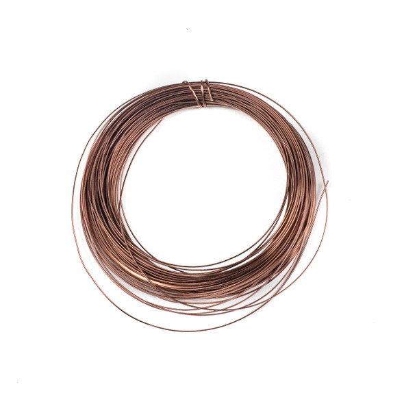 21 Gauge Coated Non-Tarnish Antique Copper Coated Copper Half Round Wire in a 40 Foot Coil