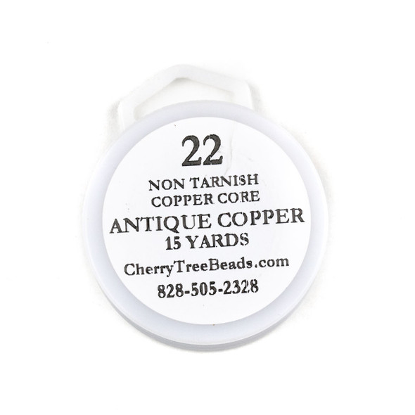 22 Gauge Coated Non-Tarnish Antique Copper Wire on a 15 Yard Spool