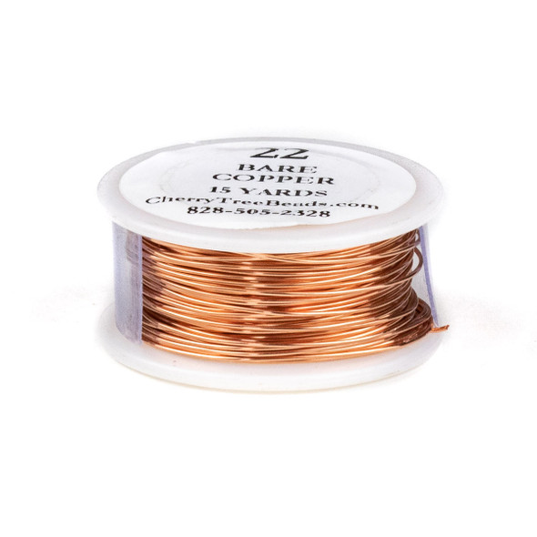 22 Gauge Bare Copper Wire on a 15 Yard Spool