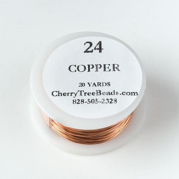 24 Gauge Bare Copper Wire on a 20 Yard Spool