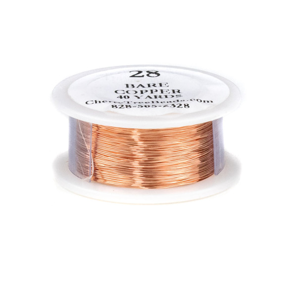 28 Gauge Bare Copper Wire on a 40 Yard Spool