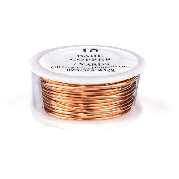 18 Gauge Bare Copper Wire on a 7 Yard Spool