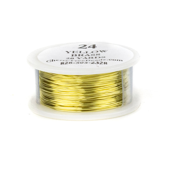 24 Gauge Coated Non-Tarnish Yellow Brass Wire on 20-Yard Spool