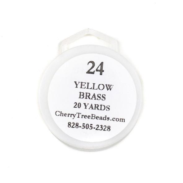 24 Gauge Coated Non-Tarnish Yellow Brass Wire on 20-Yard Spool