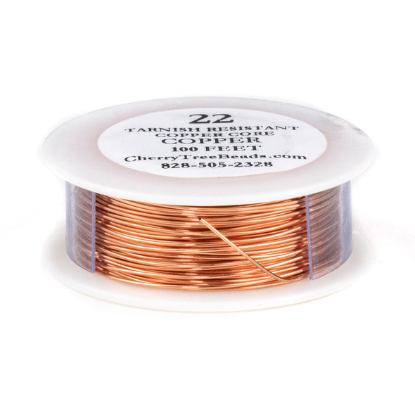 22 Gauge Coated Tarnish Resistant Copper Wire on a 100 Foot Spool
